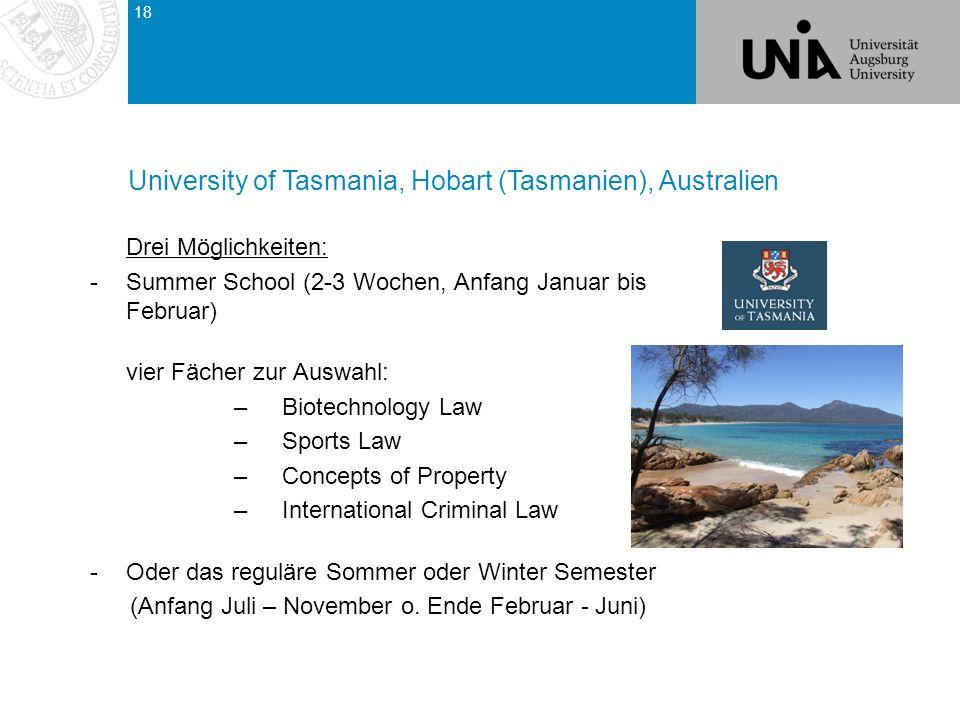 University of Tasmania, Hobart (Tasmanien), Australien
