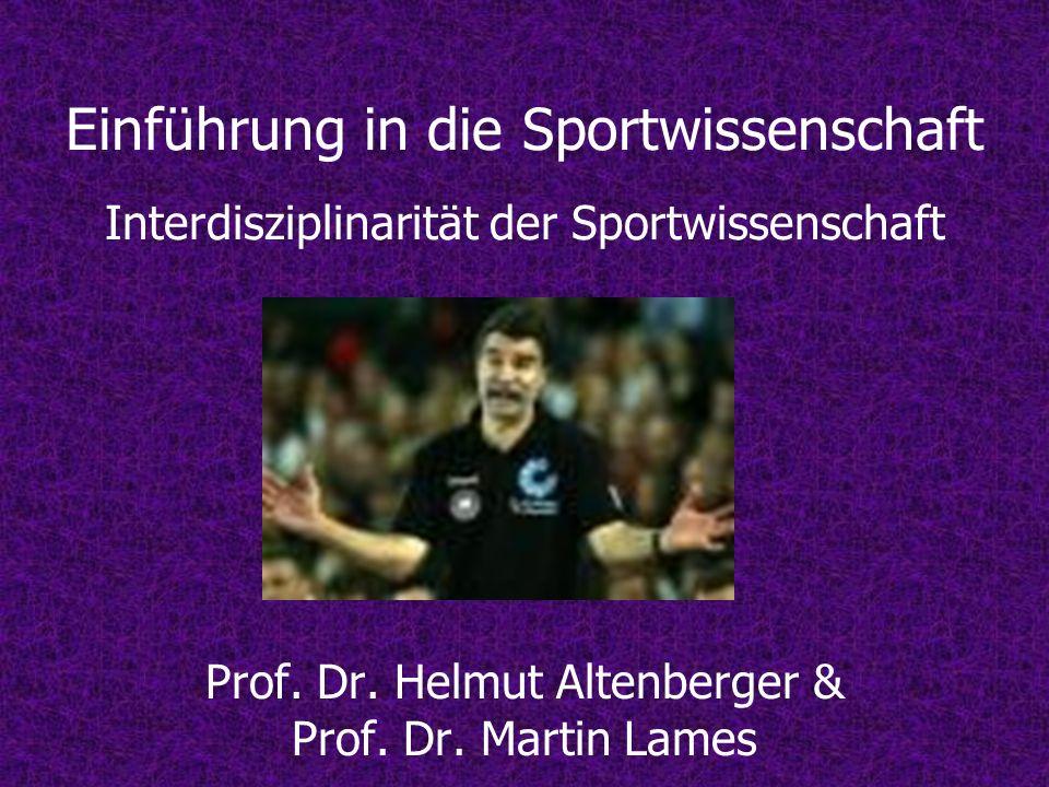 Prof. Dr. Helmut Altenberger & Prof. Dr. Martin Lames