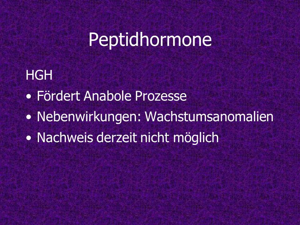 Peptidhormone HGH Fördert Anabole Prozesse