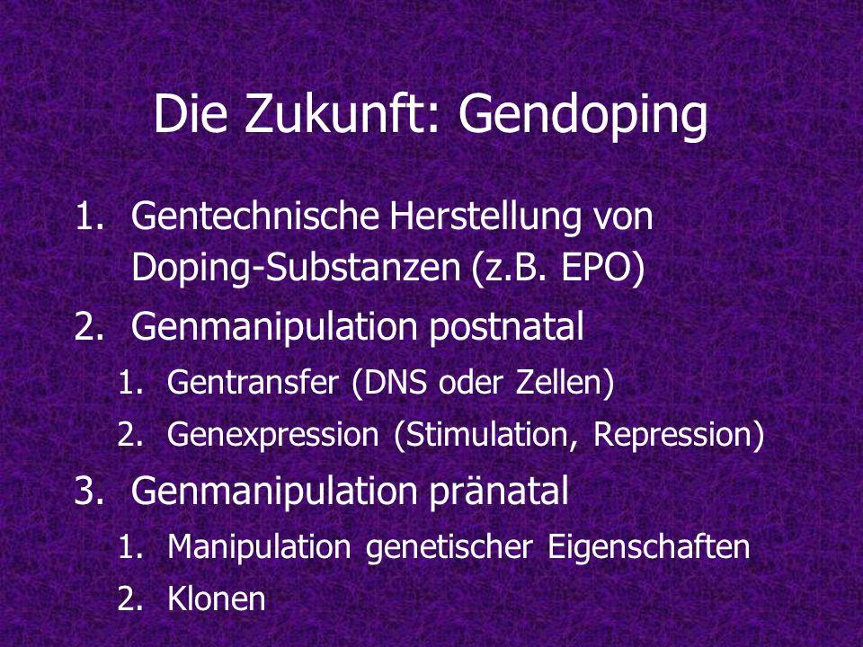 Die Zukunft: Gendoping