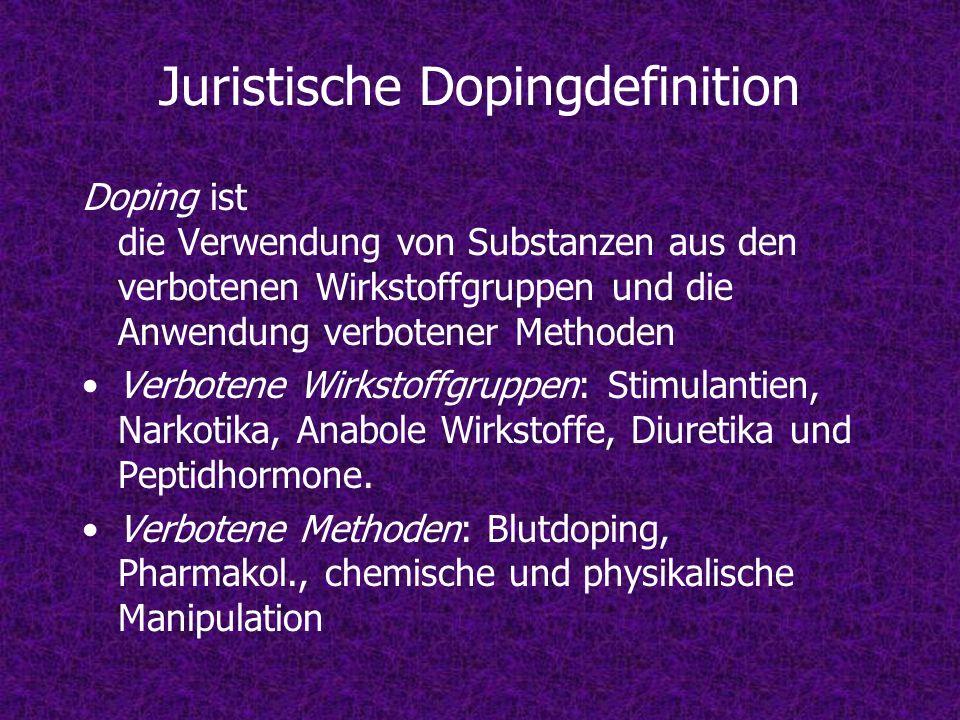 Juristische Dopingdefinition