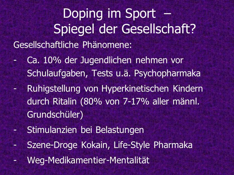 Doping im Sport – Spiegel der Gesellschaft