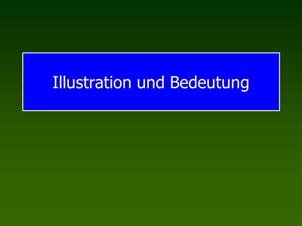 Illustration und Bedeutung