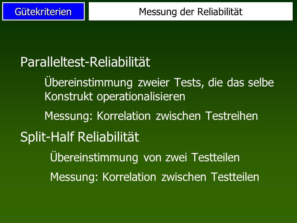 Messung der Reliabilität