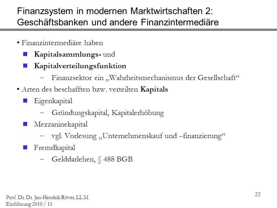 Finanzsystem in modernen Marktwirtschaften 2: Geschäftsbanken und andere Finanzintermediäre