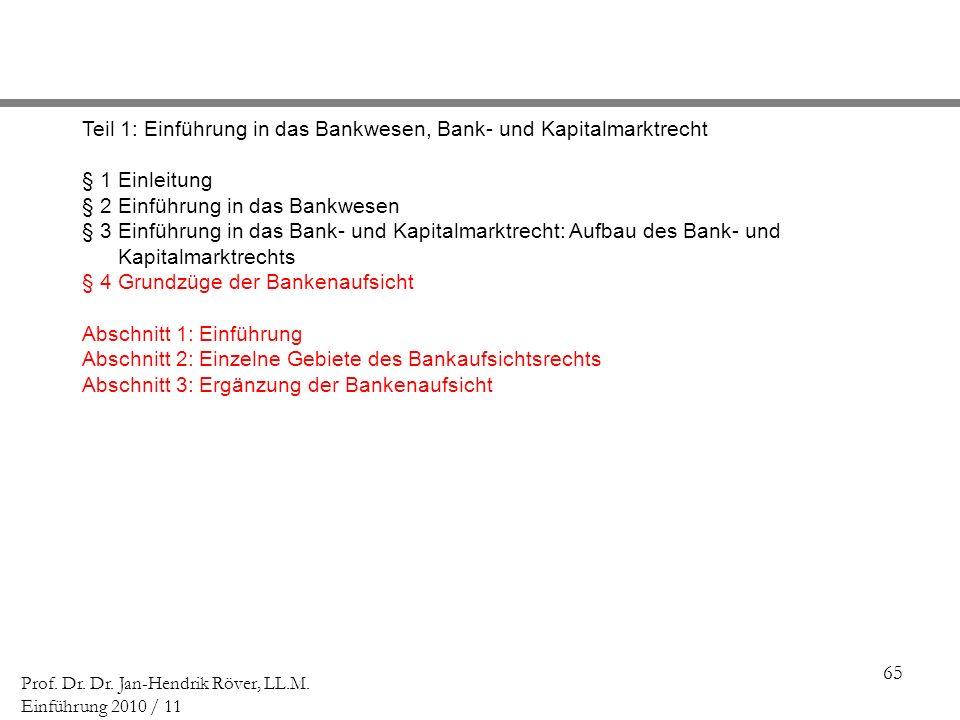 Teil 1: Einführung in das Bankwesen, Bank- und Kapitalmarktrecht