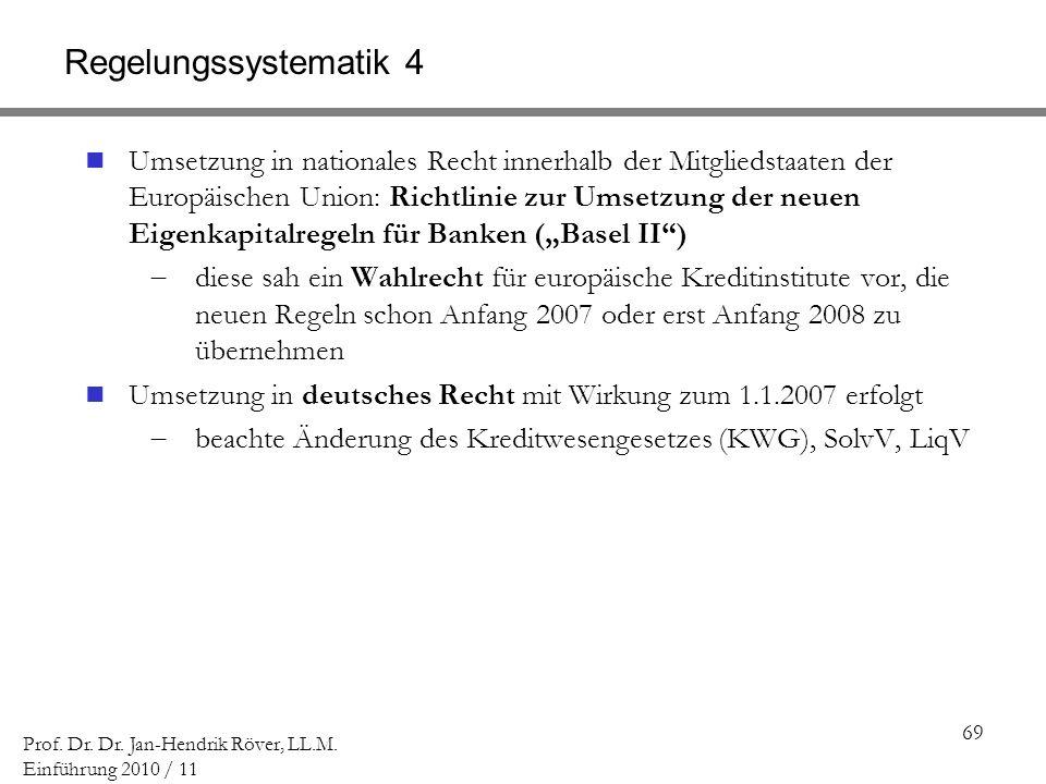 Regelungssystematik 4