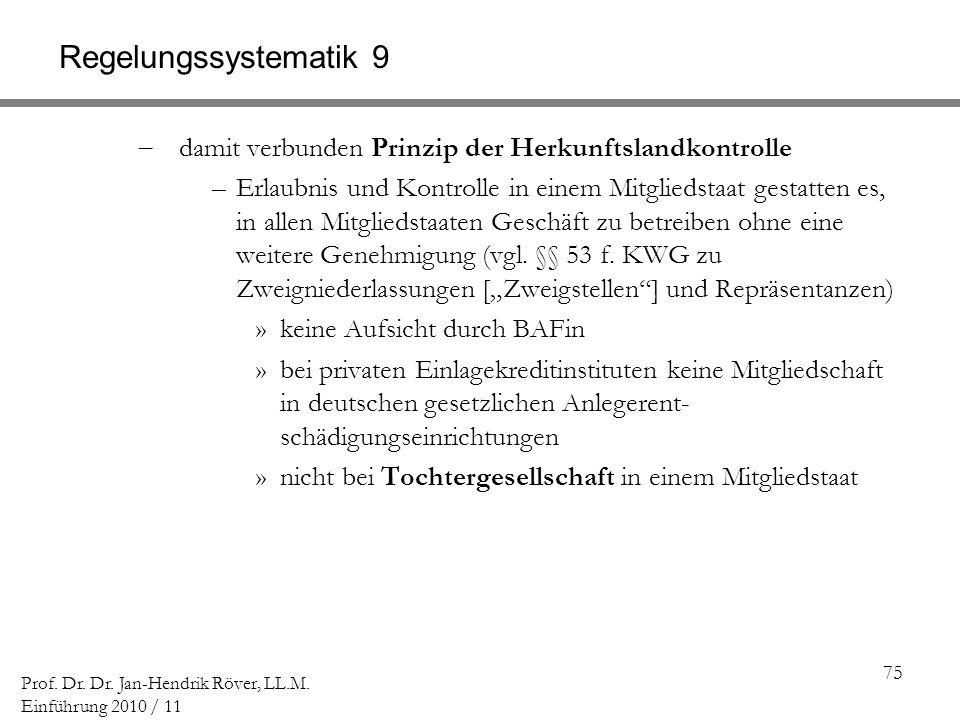 Regelungssystematik 9 damit verbunden Prinzip der Herkunftslandkontrolle.