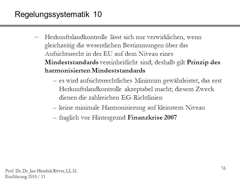 Regelungssystematik 10