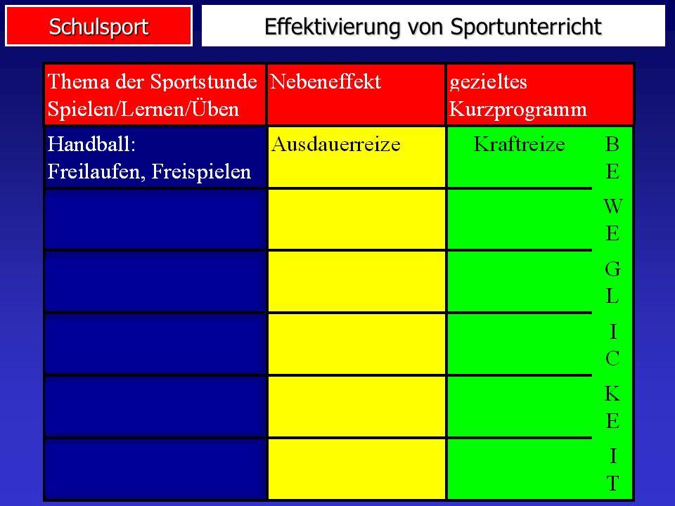 Effektivierung von Sportunterricht