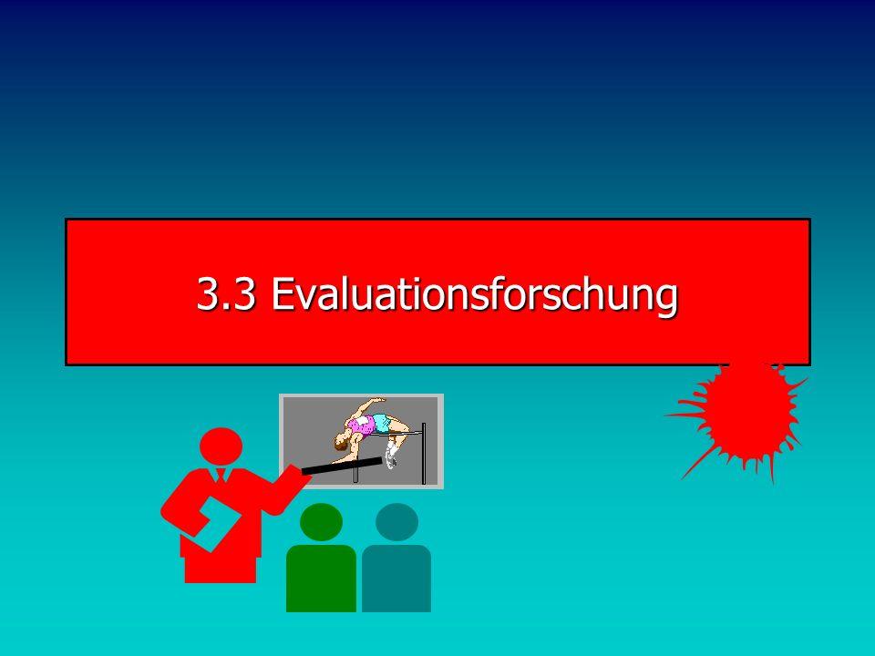3.3 Evaluationsforschung