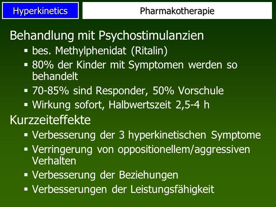 Behandlung mit Psychostimulanzien