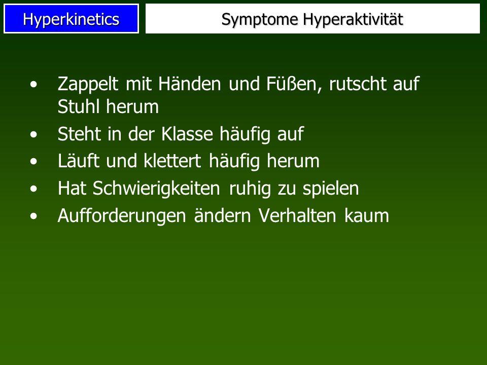 Symptome Hyperaktivität