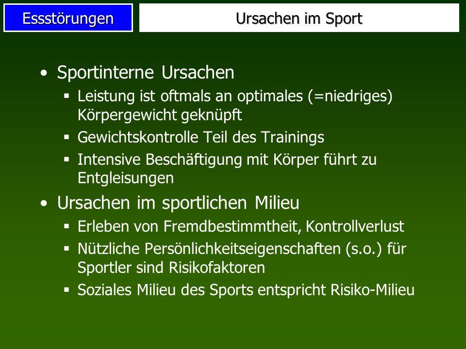 Sportinterne Ursachen
