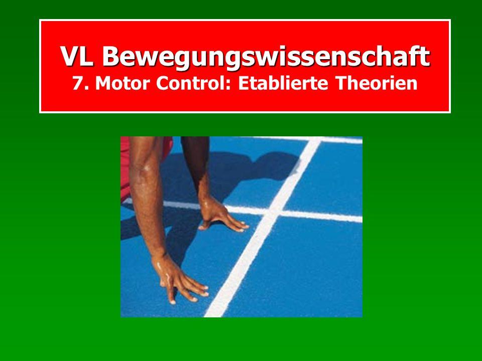 VL Bewegungswissenschaft 7. Motor Control: Etablierte Theorien