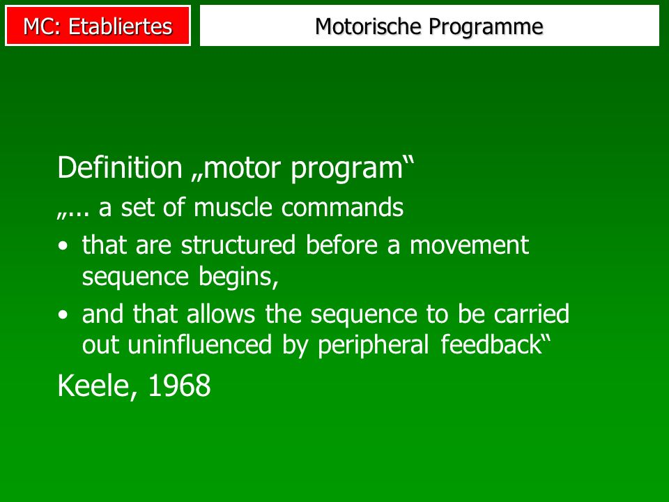 "Definition ""motor program"