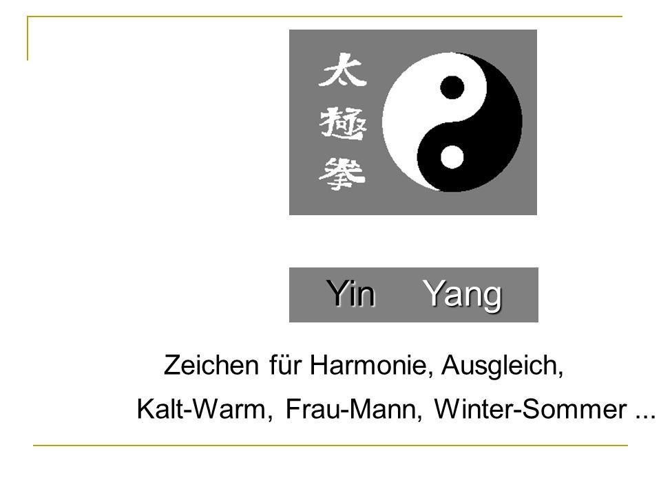 Yin Yang Zeichen für Harmonie, Ausgleich, Kalt-Warm, Frau-Mann,