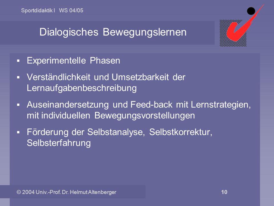 Dialogisches Bewegungslernen