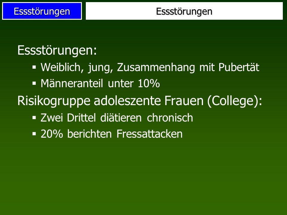 Risikogruppe adoleszente Frauen (College):
