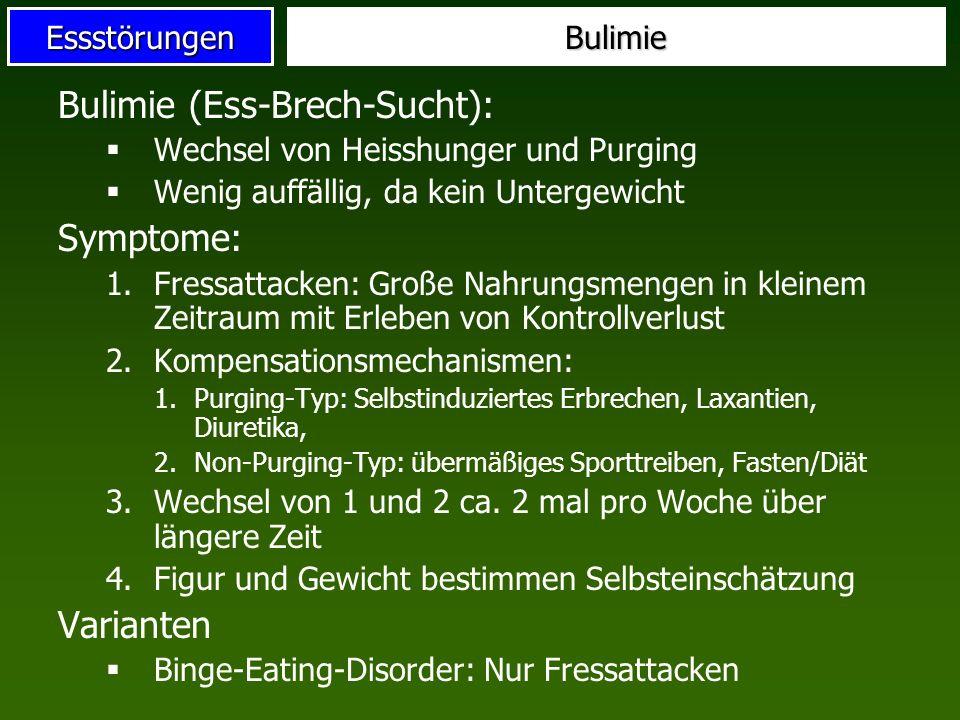 Bulimie (Ess-Brech-Sucht):