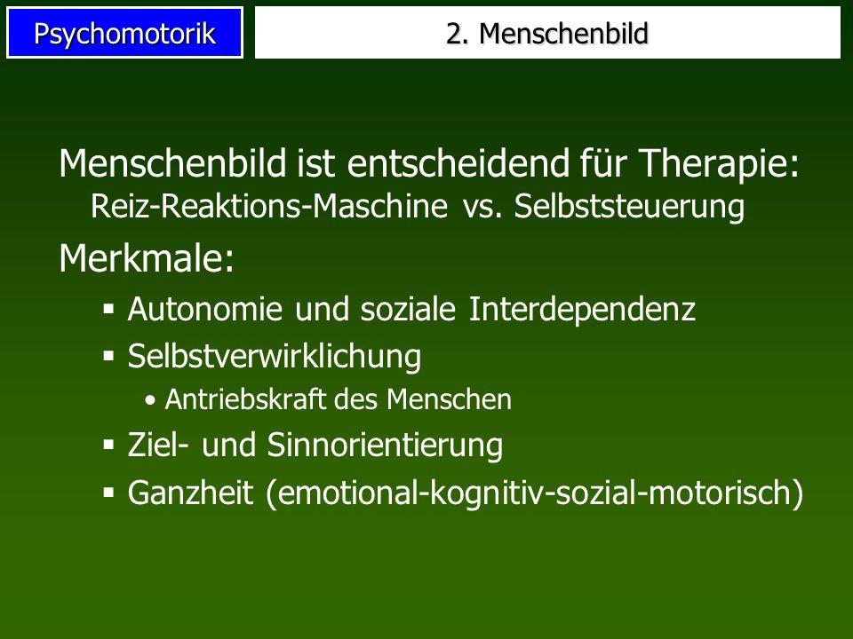 2. Menschenbild Menschenbild ist entscheidend für Therapie: Reiz-Reaktions-Maschine vs. Selbststeuerung.