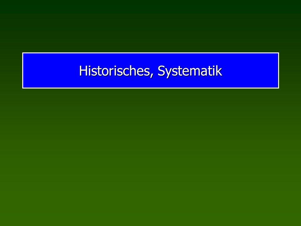 Historisches, Systematik