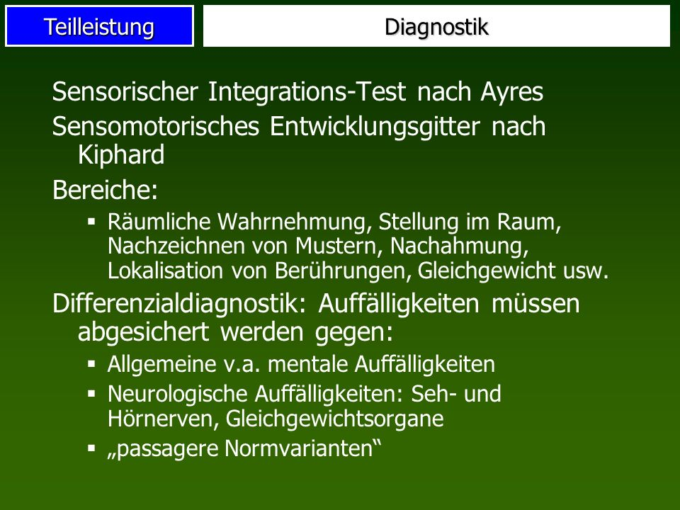 Sensorischer Integrations-Test nach Ayres