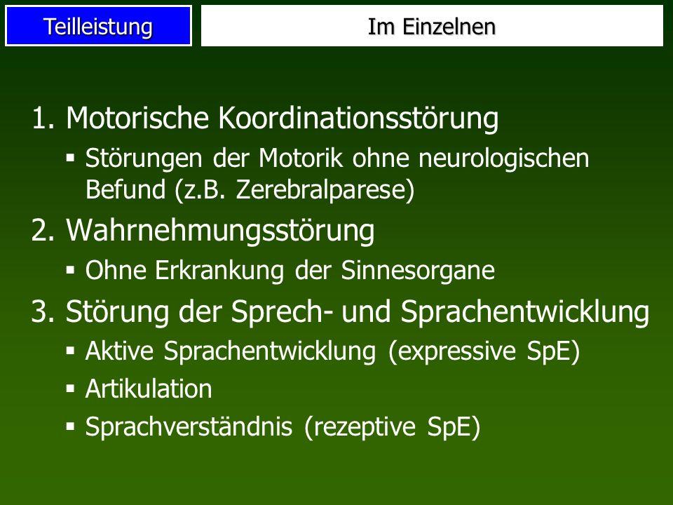 1. Motorische Koordinationsstörung