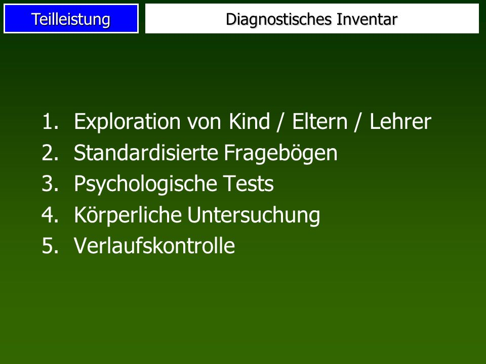 Diagnostisches Inventar