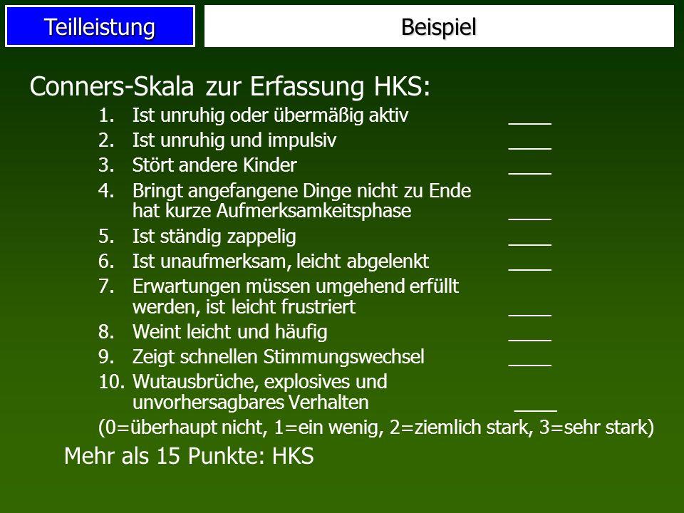 Conners-Skala zur Erfassung HKS: