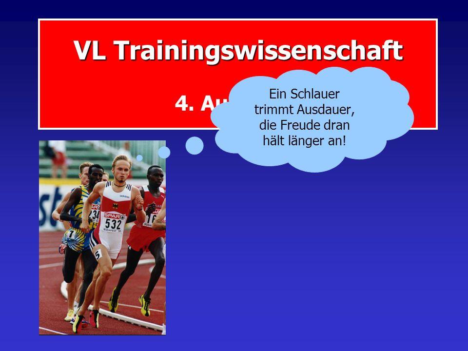 VL Trainingswissenschaft 4. Ausdauer