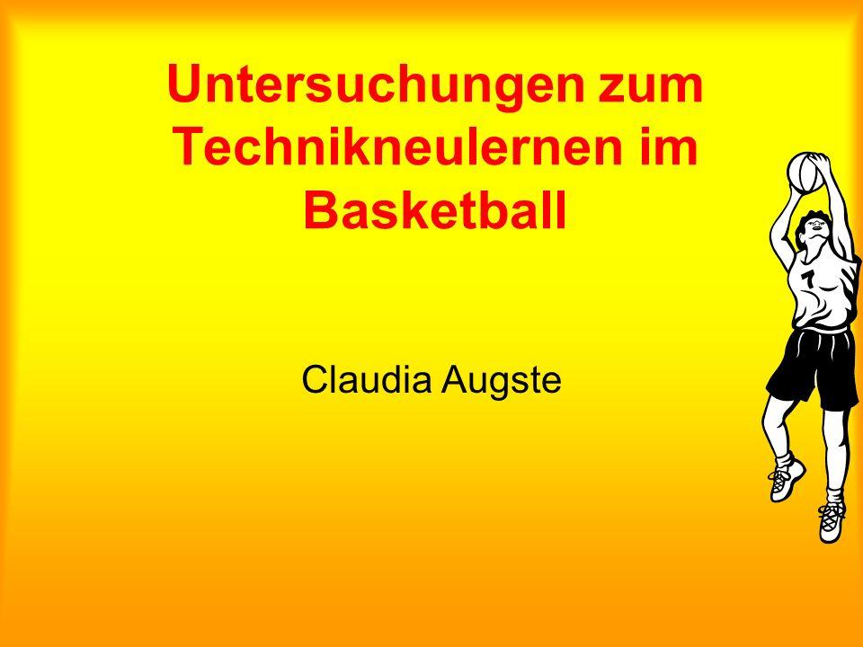 Untersuchungen zum Technikneulernen im Basketball