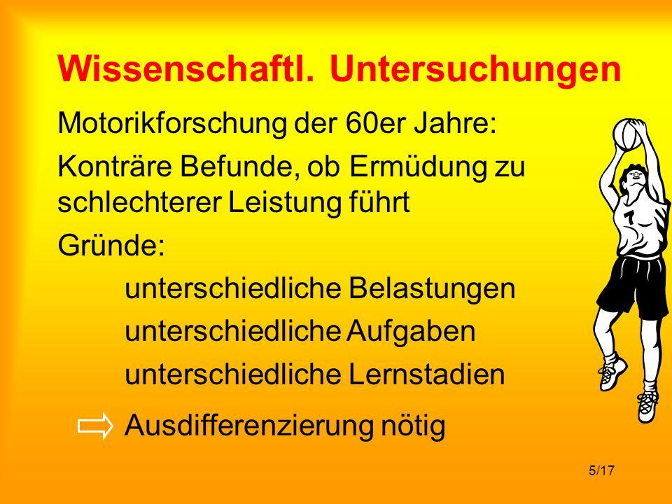 Wissenschaftl. Untersuchungen