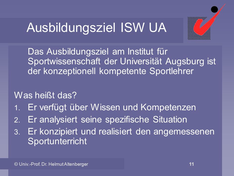 Ausbildungsziel ISW UA