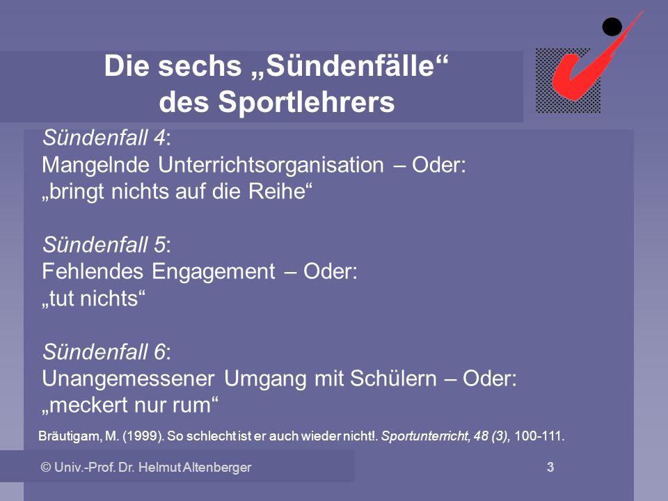 """Die sechs """"Sündenfälle des Sportlehrers"""