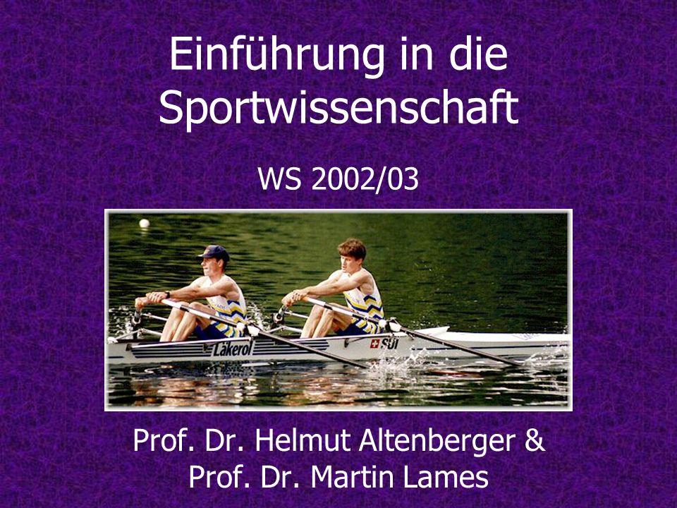 Einführung in die Sportwissenschaft WS 2002/03