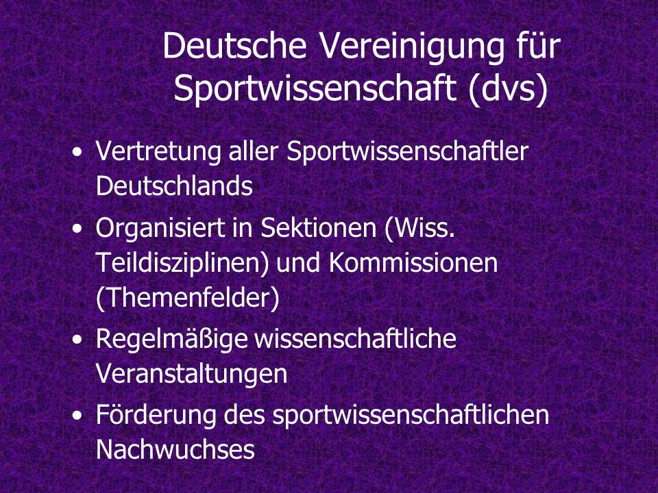 Deutsche Vereinigung für Sportwissenschaft (dvs)