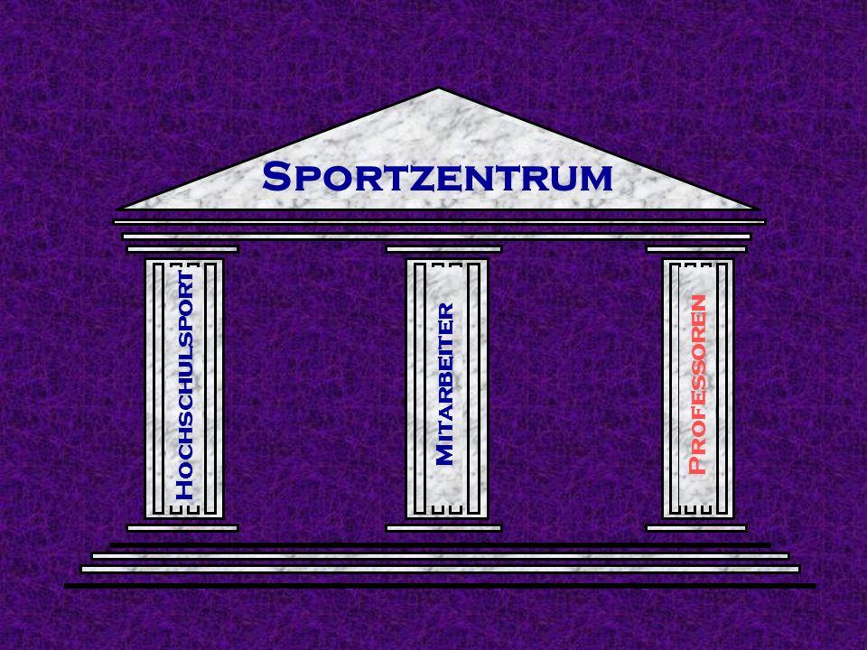 Sportzentrum Hochschulsport Mitarbeiter Professoren