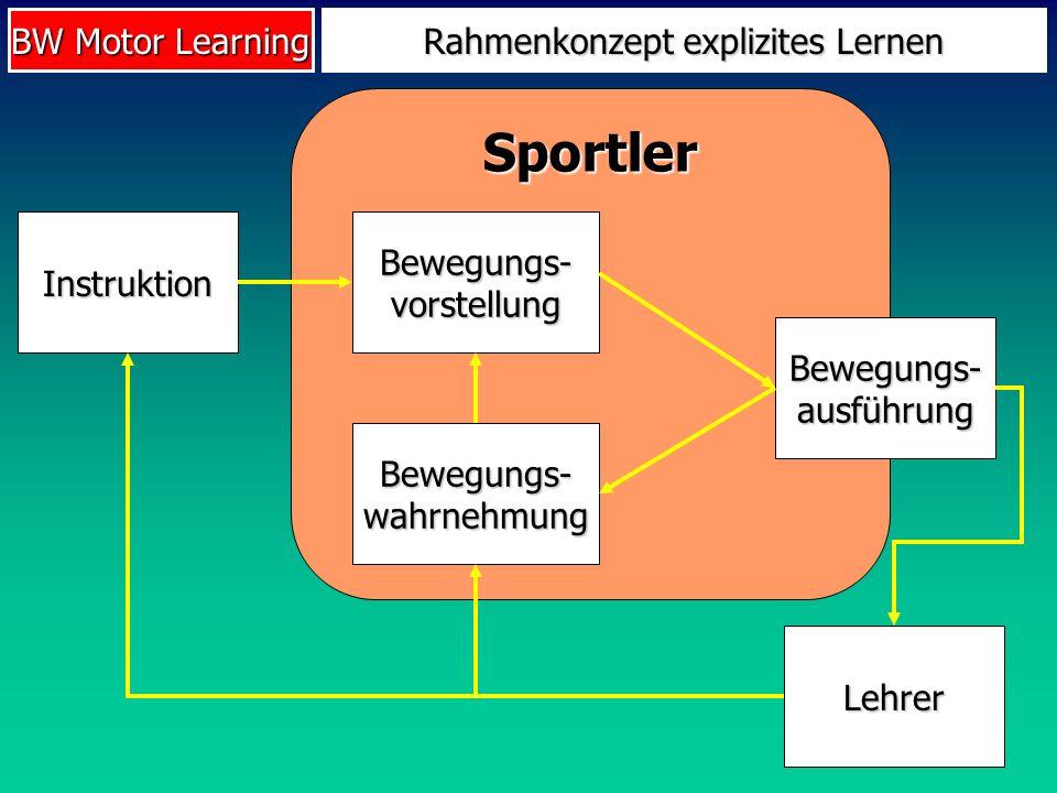 Rahmenkonzept explizites Lernen