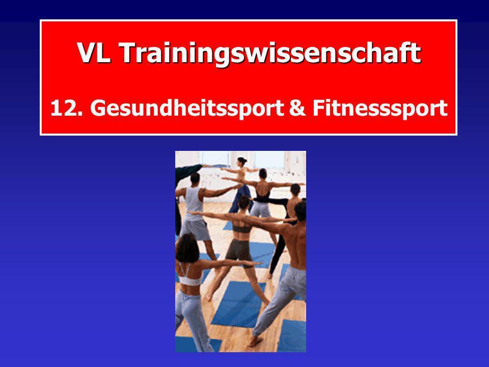 VL Trainingswissenschaft 12. Gesundheitssport & Fitnesssport
