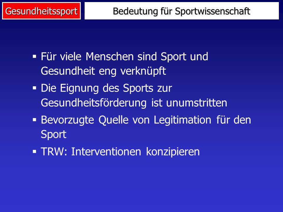 Bedeutung für Sportwissenschaft