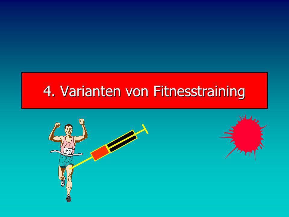 4. Varianten von Fitnesstraining