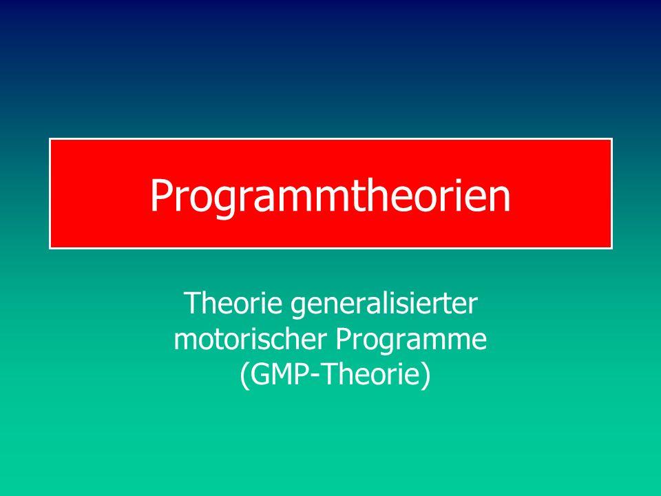 Theorie generalisierter motorischer Programme (GMP-Theorie)
