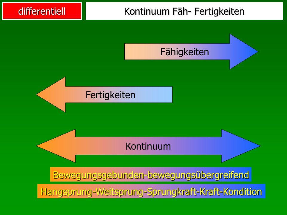 Kontinuum Fäh- Fertigkeiten