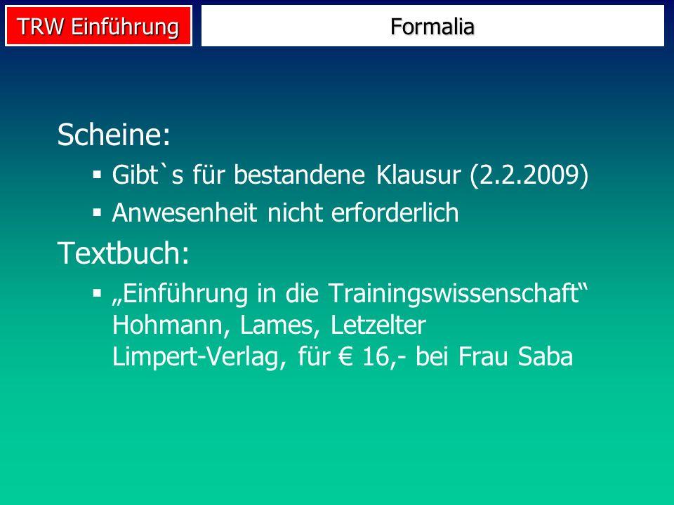 Scheine: Textbuch: Gibt`s für bestandene Klausur (2.2.2009)