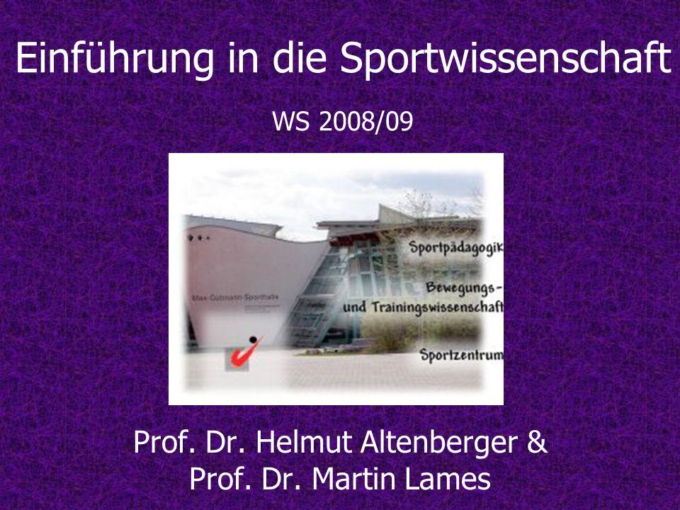 Einführung in die Sportwissenschaft WS 2008/09