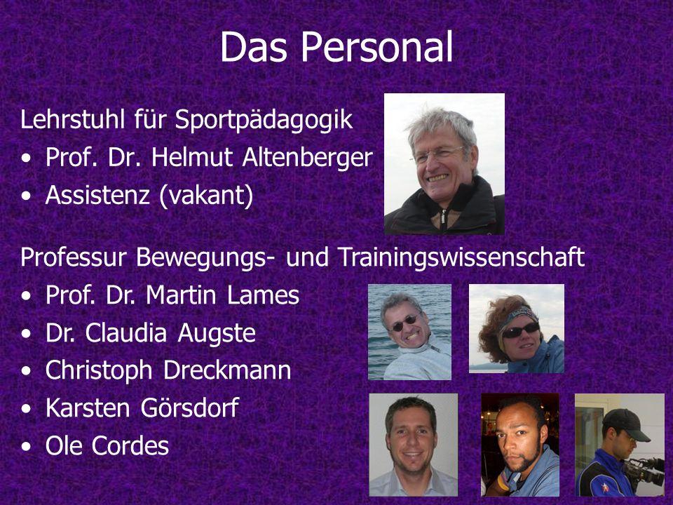 Das Personal Lehrstuhl für Sportpädagogik Prof. Dr. Helmut Altenberger