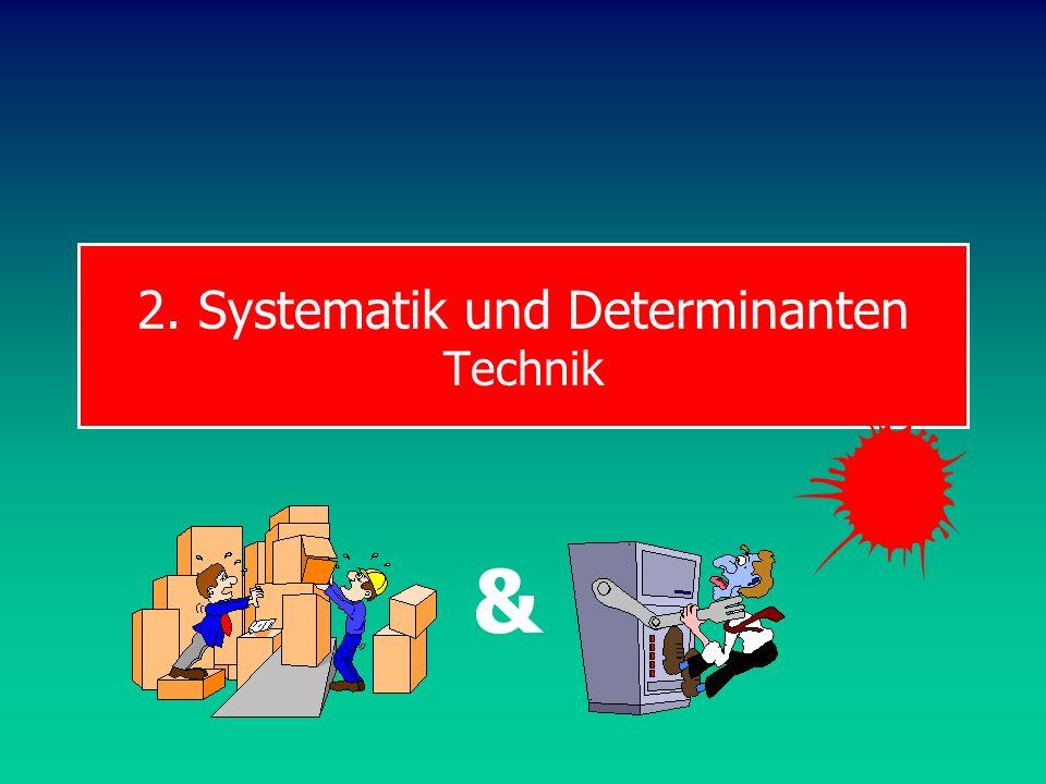 2. Systematik und Determinanten Technik