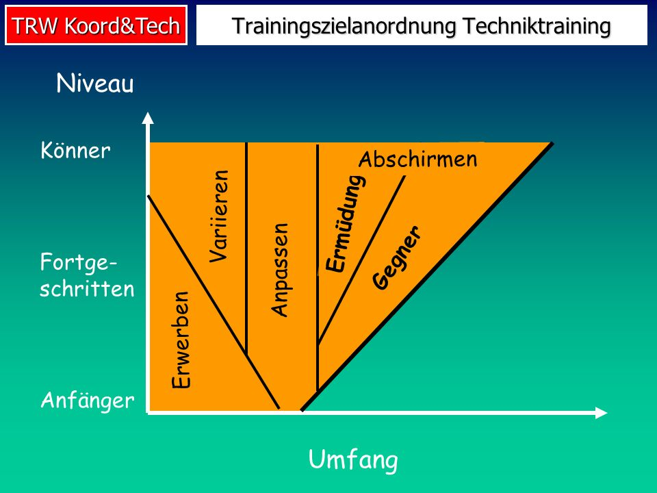 Trainingszielanordnung Techniktraining