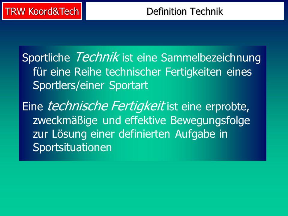 Definition TechnikSportliche Technik ist eine Sammelbezeichnung für eine Reihe technischer Fertigkeiten eines Sportlers/einer Sportart.